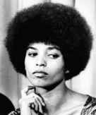 "Angela Davis: ""As a black woman, my politics and political affiliation are bound up with and flow from participation in my people's struggle for liberation, and with the fight of oppressed people all over the world against American imperialism."""