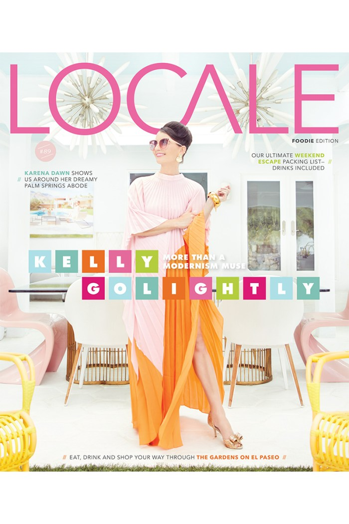 Kelly Golightly on the cover of Locale Magazine Palm Springs