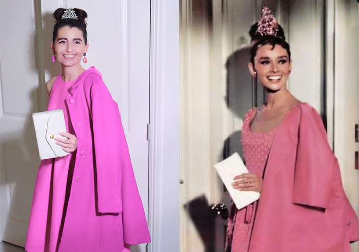 Audrey Hepburn Givenchy Pink Dress | Kelly Golightly