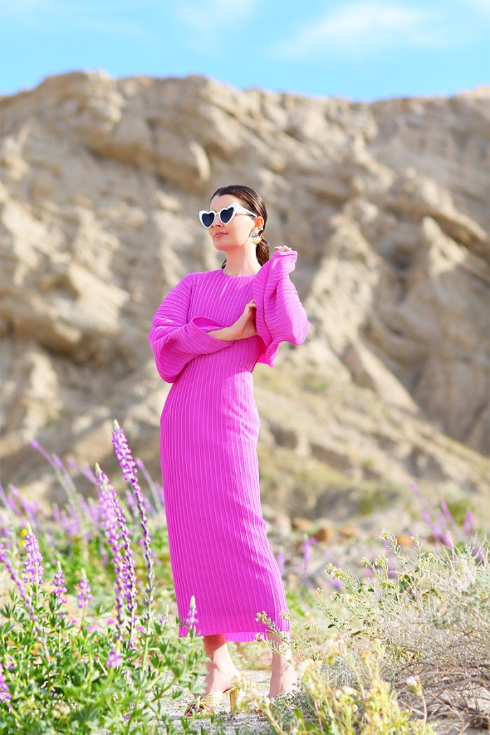 Solace London Mirabelle Dress in Anza-Borrego for the Super Bloom | Kelly Golightly