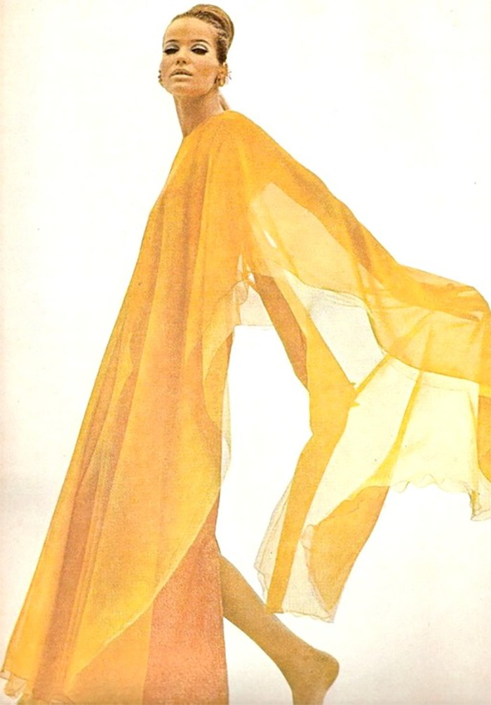 Get the Look: Veruschka in Yellow Caftan, VOGUE 1966 | Kelly Golightly