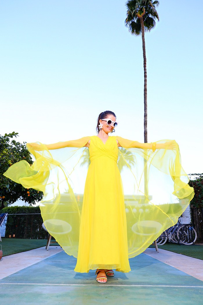 Yellow Chiffon Caftan Dress | Kelly Golightly