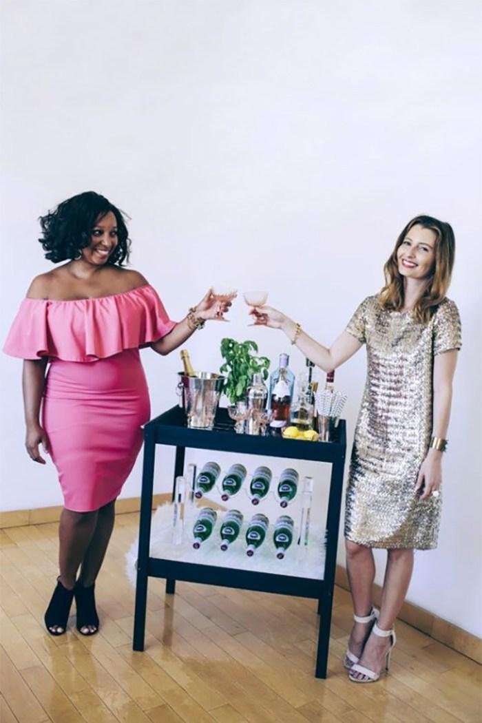 A Genius DIY Bar Cart Makeover | Kristen Turner + Kelly Golightly