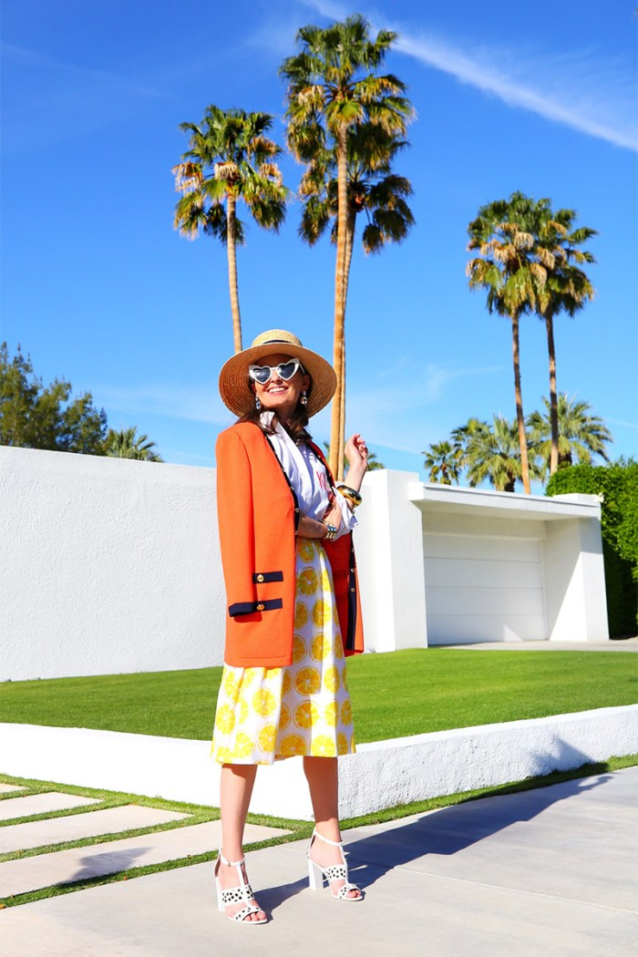 Lemon-print skirt | Kelly Golightly