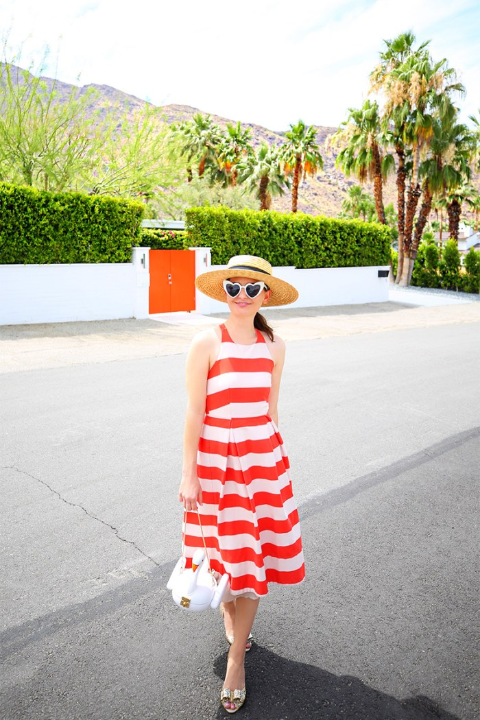 How to style a red and white striped dress. | Kelly Golightly