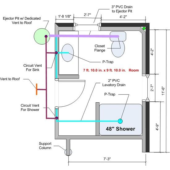 How To Plumb A Basement Bathroom Home Design Tips