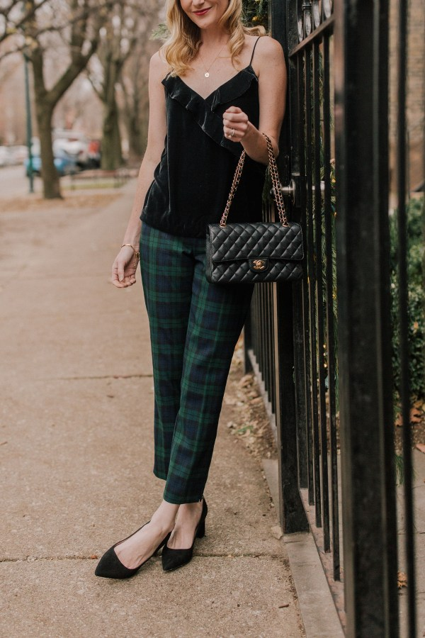 Black Watch Plaid Pants - Kelly In City