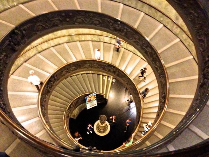 Stairway Vatican, Rome Italy