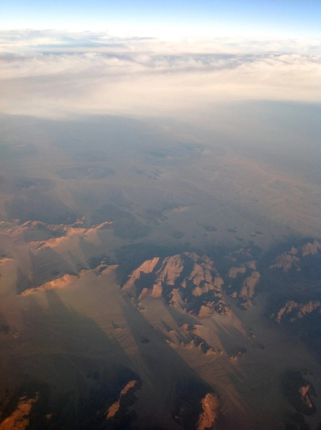 The Sahara Desert from 35,000 feet