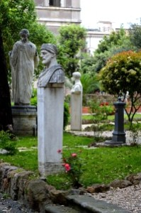 Statues in a cemetery