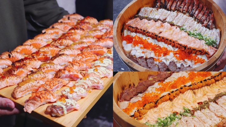 【台南美食】超罪惡深夜食堂『餓男食堂』50貫炙燒鮭魚一次吃個夠,營業到凌晨1點半夜也能吃!