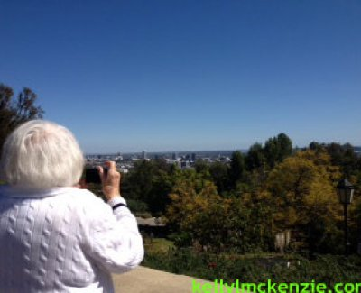 Mom taking picture in LA http://kellylmckenzie.com/living-life-to-the-fullest-at-91/