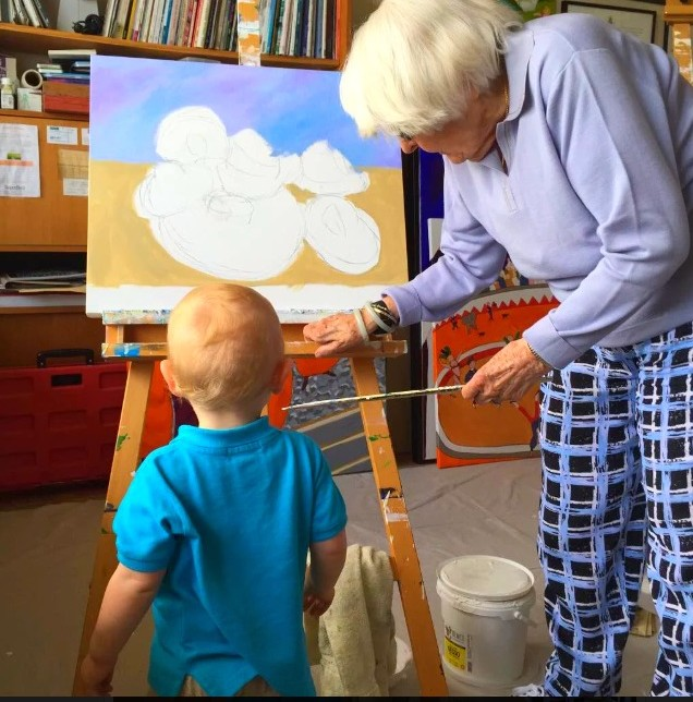 Artist and great-grandson http://kellylmckenzie.com/Quick-Update-On-My-92-Year-Old-Mom/