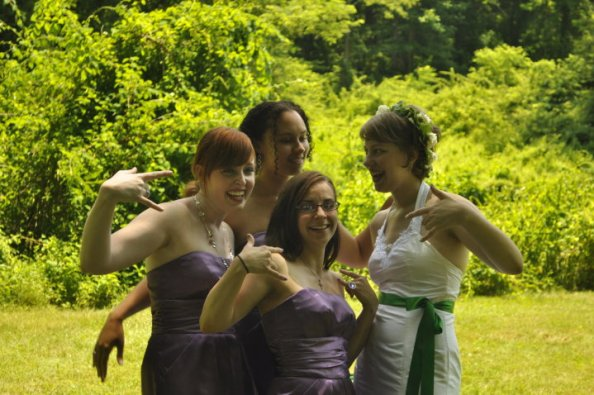 Fun was also a requirement at our handfasting.