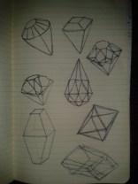 fractal drawing moleskine practicing gem sketching geometry
