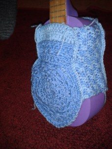 crocheting uke case checkboard pattern sides