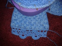 crocheted lace edging ukulele cover diy
