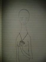 sadness drawing locket graphite sketch moleskine