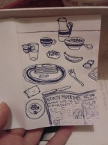 daily drawin breakfast sketch zine illustration