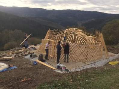 Mongolian yurt building project Spain