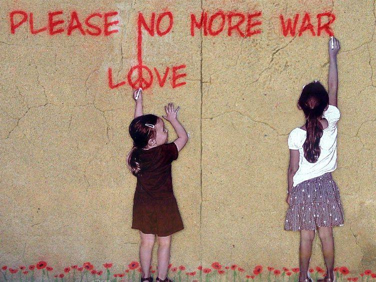 peace no more war sign