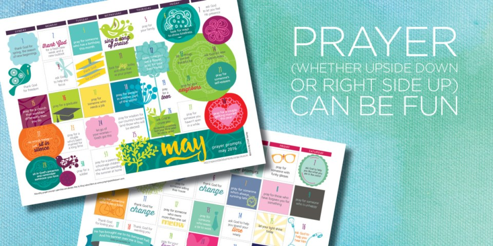 Download free prayer prompt calendars — new each month Kelly
