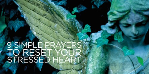 Graphic 9 simple prayers stressed