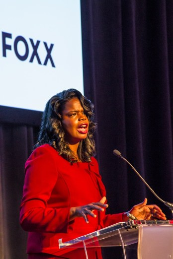 Kim Foxx speaking at the 2016 Streetwise Gala