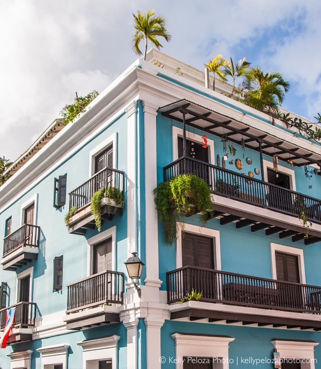 Colorful Old San Juan Architecture by Kelly Peloza Photo, Chicago photographer