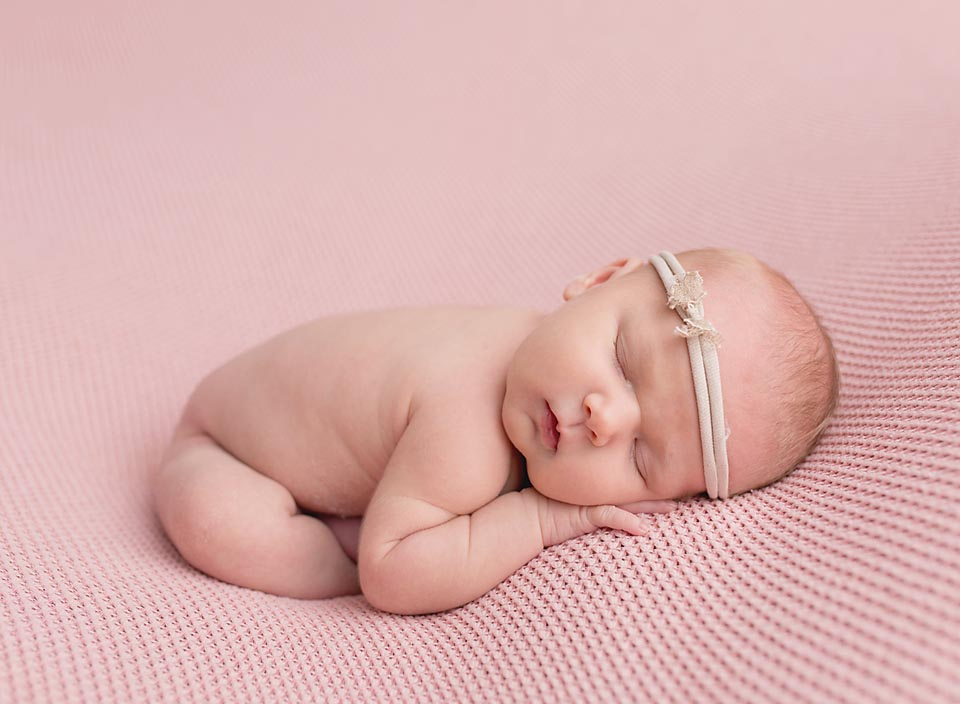 Brand new baby girl's first photos