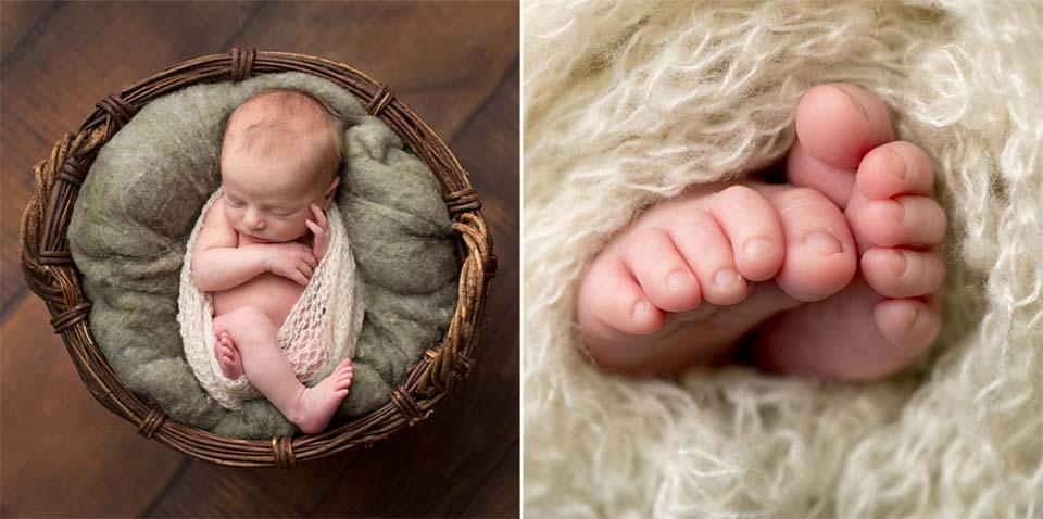 Professional newborn photoshoot, Orillia newborn baby