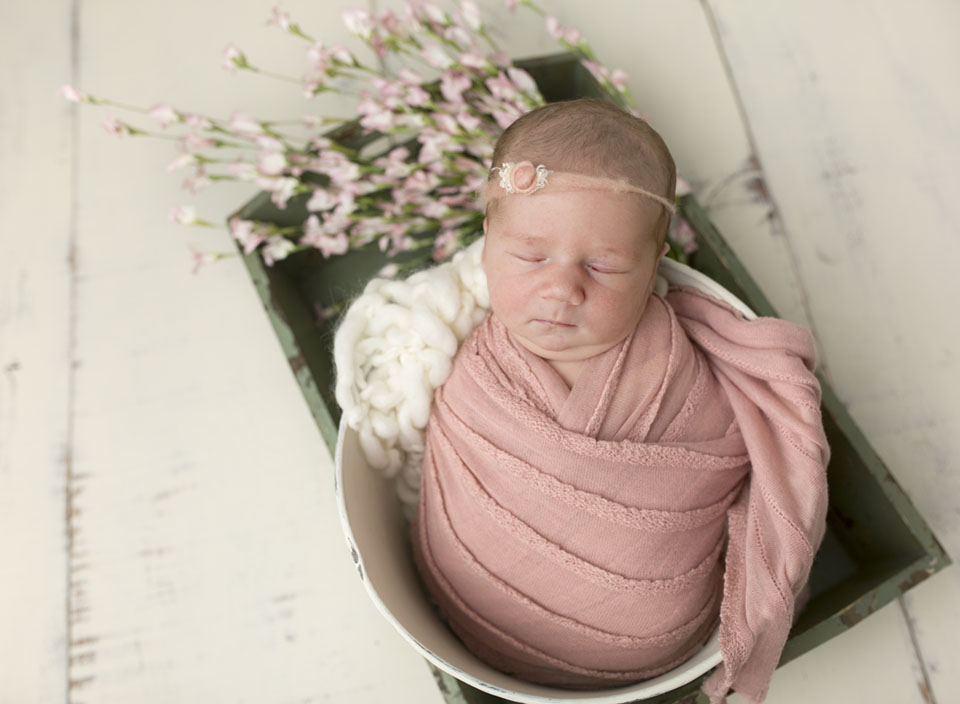 Baby picture created by Stouffville photographer