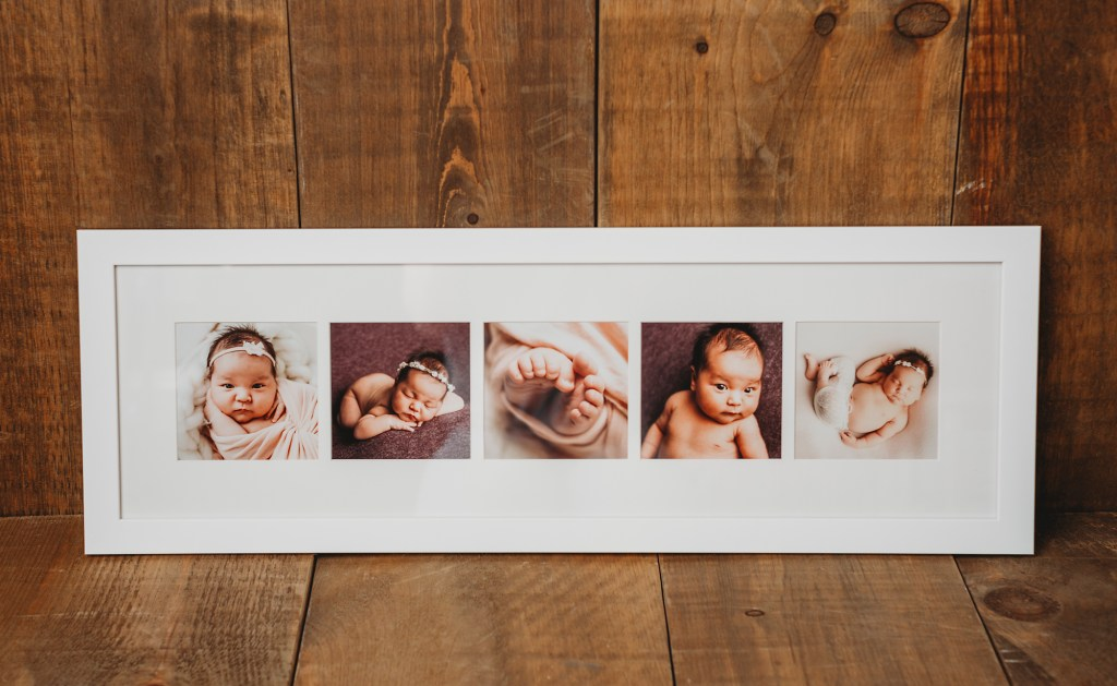 Custom artwork created by baby photographer, Kelly Rawlinson in Georgina, ON