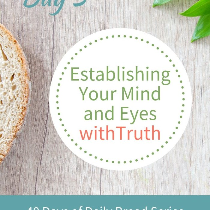 Day 3: Establishing Your Mind & Eyes with Truth