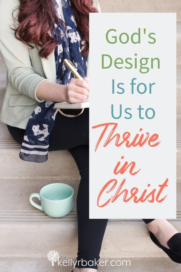 My heart yearns for Believers to see the need to grow spiritually. God's design is for us to thrive in Christ. Here's why. #ThrivingInChrist #spiritualgrowth #spiritualmaturity