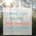 When You Want to Hear from God, but…Crickets