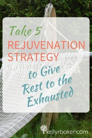 Pin this: Take Five Rejuvenation Strategy.