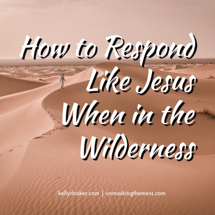 How to Respond Like Jesus When in the Wilderness