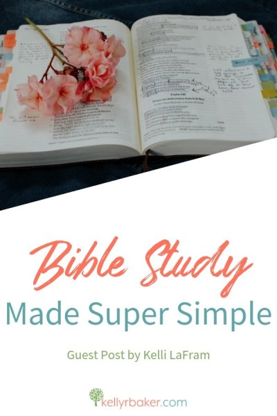 In this post you'll find two simple Bible study methods you can apply today. Bible study can be super simple—so simple that you can do it on your own. #ThrivinginChrist #DailyTime #Biblestudy #Godtime #quiettime #spiritualgrowth #biblestudymethods