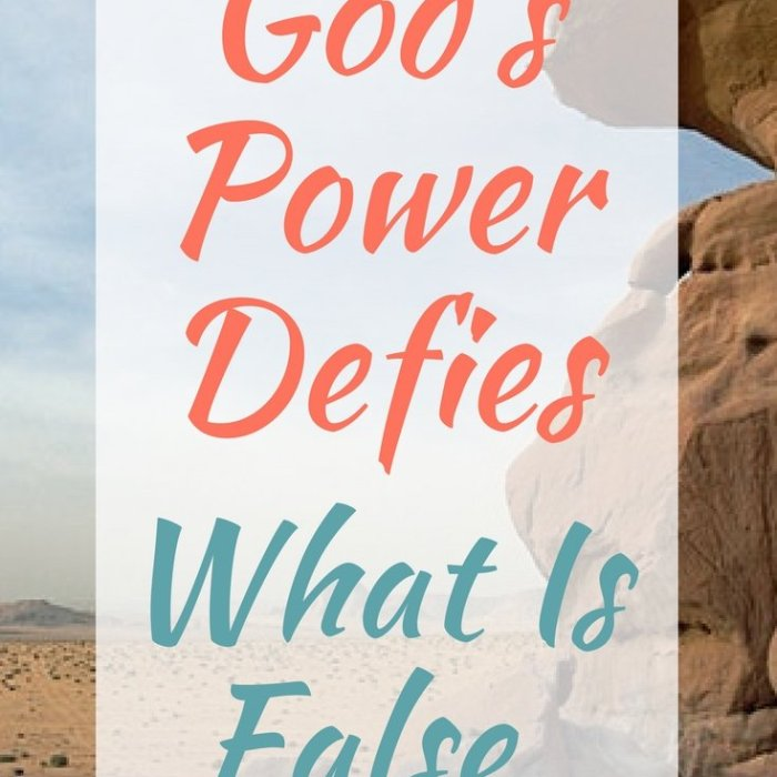 God's Power Defies What Is False
