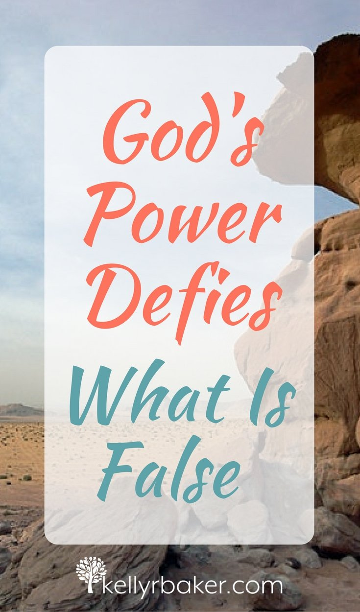 God's power defied the false gods of Egypt in Pharaoh's day. Am I allowing God to manifest His power in my life, even to uproot what is false in it?