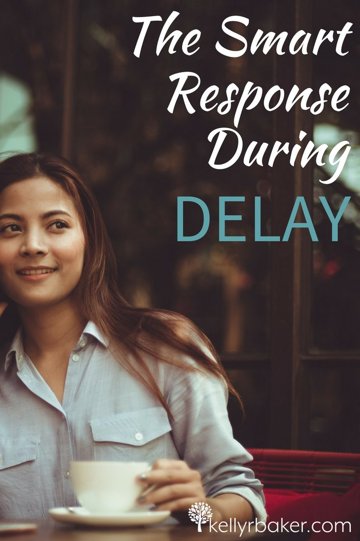 Delay is like the narrow neck of the hourglass. It's an inevitable part of life. Instead of allowing disappointment to drag you down, there are ways to be productive while waiting. They are the smart response when there's delay. #thrive #waiting #delay #hourglass #disappointment #timing #trust #content