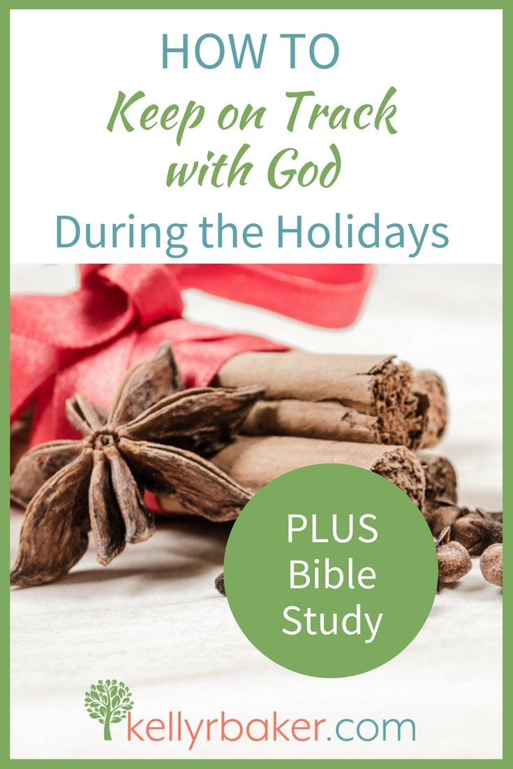Want to keep on track with God during the holidays? These three intentional decisions will help you thrive spiritually. Plus holiday Bible study. #biblestudy #spiritualgrowth #holidays #hellomornings #thriving #thrive #women #advent #thanksgiving