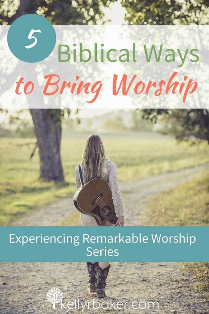One of the definitions of worship is akin to a dog licking his owner's hand. How's that for a word picture? (Don't worry; you don't have to lick God's hand like a dog.) But the Bible talks about expression and demonstration in worship! We are going to explore that in this post. #thrive #thrivinginworship #instruments #church #churchservice #godtime #devotional