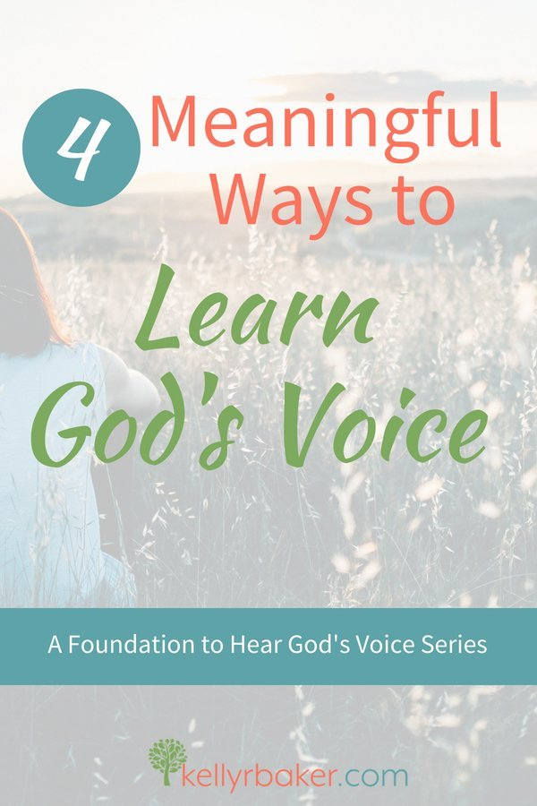 Do you want to learn God's voice? If so, that's great! It takes time, but you can and will if you apply these four biblical tips. #ThrivingInChrist #SpiritualGrowth #DailyTime #GodTime #QuietTime #BiblicalTruths #Godsvoice #learngodsvoice #hearingfromgod #heargodsvoice