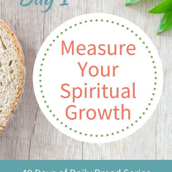 Day 1: Measure Your Spiritual Growth