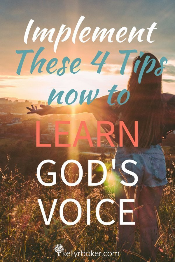 """Everyone who is of the truth hears My voice"" (John 18:37c NASB). We can learn to hear God's voice when we faithfully apply these four tips. #ThrivingInChrist #SpiritualGrowth #DailyTime #GodTime #QuietTime #BiblicalTruths #Godsvoice #learngodsvoice #hearingfromgod #heargodsvoice"