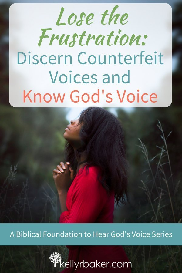 Do you ever wonder if the voice you heard was God or not? Frustrating, isn't it? To know God's voice, it's imperative to discern the characteristics of the voice we're hearing. #ThrivingInChrist #spiritualgrowth #dailytime #dailybread #hearingfromgod #godsvoice #discernement #quiettime #godtime #counterfeit #biblicaltruths #bible #verses #versesonhearinggodsvoice