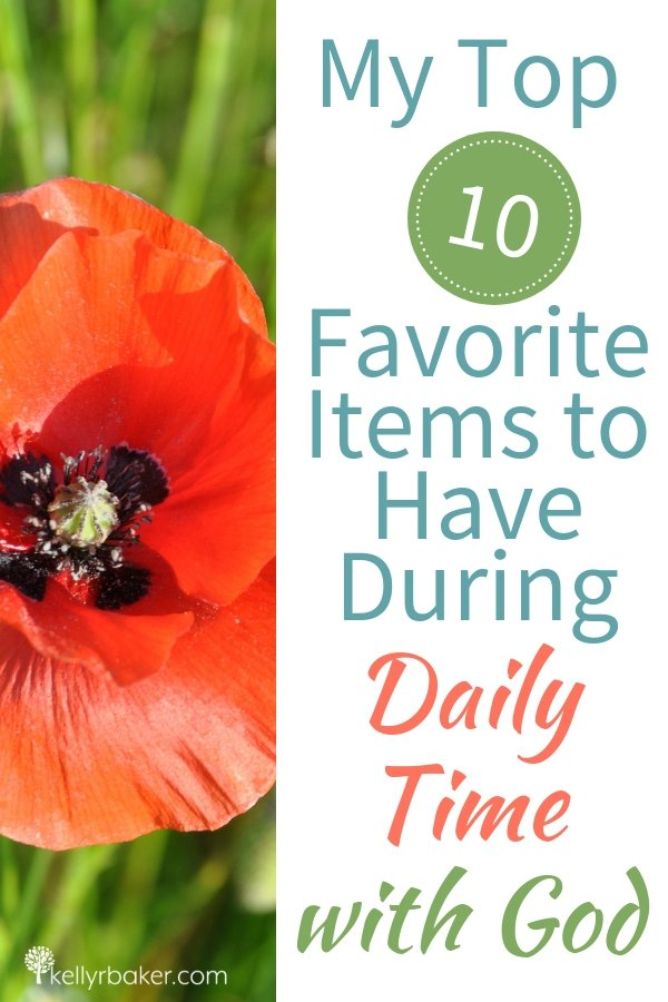 If there's anything in this life that makes me feel grounded, it's having a Daily Time with God. Here are my top 10 favorite items to have during my Daily Time with God. #ThrivingInChrist #DailyTime #godtime #quiettime #devotional #bible #God #spiritualgrowth
