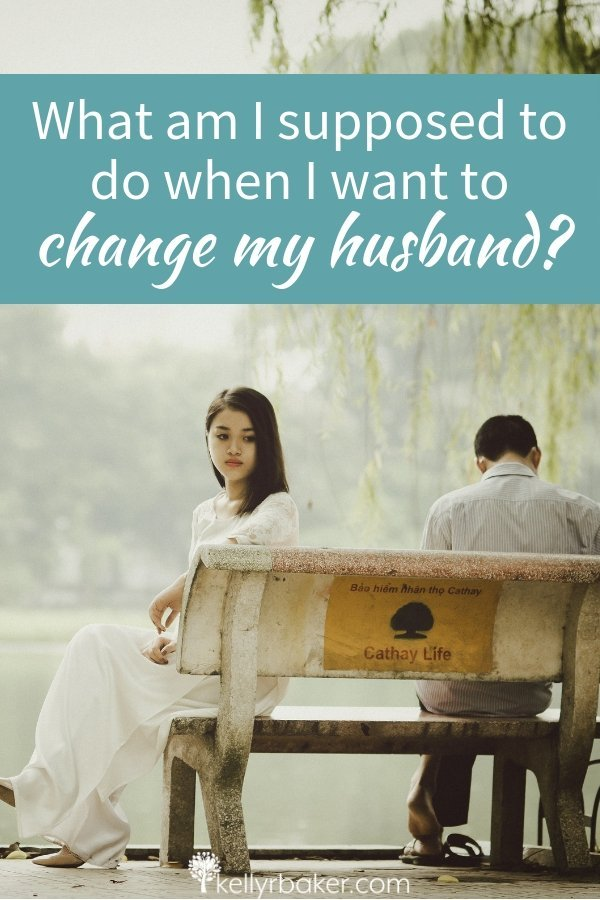 "Has your prayer ever been, ""What am I supposed to do when I want to change my husband?"" Here's the advice God gave me when that was my plea. #ThrivingInChrist #ThrivingInRelationships #relationships #marriage #husband #wife #biblical #marital #changemyhusband"